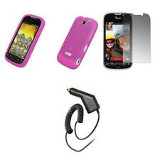HTC myTouch 4G Pink Soft Silicone Case+Screen Protector+Car Charger