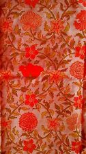 Retro Thai Silk Handwoven in Thailand Vintage Floral Fabric 2.5 Yds