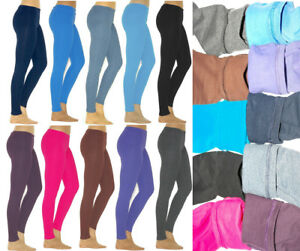 Fleece Thermo Leggings Hose  Baumwolle