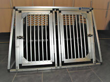Alu Hundebox Transportbox Hundetransportbox Doppelbox Heyermann 120 x 110 x 75