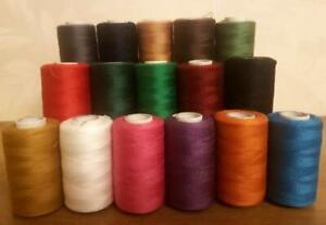 16 Polyester Thread embroidery overlocking art dressmaking assorted large spools
