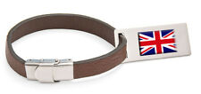 Northern Ireland Flag Leather Luggage Tag Steel Engraved Text