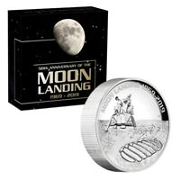 2019 50th Anniversary of the Moon Landing 5oz High Relief Silver Proof Coin