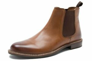 Red Tape Bateman Mens Leather Chelsea Boots with Target Sole Tan