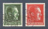 DR Nazi 3rd Reich Rare WW2 WWII Stamp Hitler Head 49 birthday NSDAP Congress WAR
