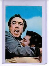 Anthony Quinn actor vintage 70s film postcard in clear plastic holder unused