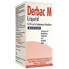 Derbac M Treatment of Head Lice, Crab Lice, and Scabies Mite 50ml