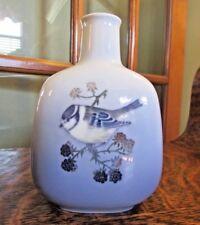 ROYAL COPENHAGEN Vase, Chickadee on Berry Bush