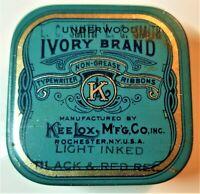 #42. VTG IVORY BRAND TYPEWRITER RIBBON TIN BOX KEELOX MFG CO