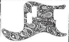 P Bass Pickguard Scratchplate Fender 13 Hole Guitar Pick Guard Paisley BK-WH