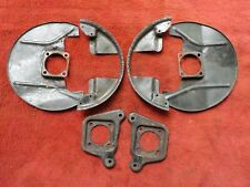 FIAT 124 Spider Used PAIR of FRONT BRAKE SHIELDS / Backing Plates