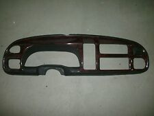 1998 1999 2000 2001 DODGE RAM OEM WOODGRAIN DASH RADIO BEZEL 1500 2500 3500