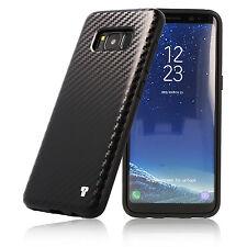 PULSARplus® Samsung Galaxy S8 Hülle Handy Carbon Case Schutzhülle Bumper Schwarz