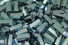 100 Hex Coupling Nuts 12 13 X 58 X 1 14 Threaded Rod Connector Zinc