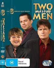 Two And A Half Men : Season 6 (DVD, 2010, 4-Disc Set) Brand new Charlie Sheen