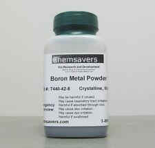 Boron Metal Powder 200 Mesh Amorphous Amp Crystalline 99999 Mb 1g