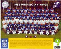 1985 MINNESOTA VIKINGS 8X10 TEAM PHOTO MILLARD WHITE FOOTBALL USA