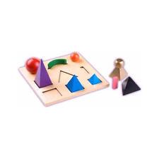 Montessori: Wortartensymbole als Holzkörper