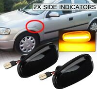 2x LED Side Indicators Repeater Light For Vauxhall Opel l Zafira A Astra G Mk4