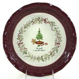"""Grasslands Road BAKE YOURSELF 10.5"""" Pie Plate A Merry Little Christmas Embossed"""
