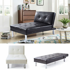 WestWood Chaise Longue Single Sofa Bed 1 Seater Couch Faux Leather Chair PSB03