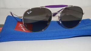 RAY BAN JR KID New Sunglasse Aviator Silver Grey Gradient RJ9542S 265/11 50 130