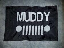 Custom MUDDY Safety  Flag for ATV UTV dirtbike Jeep Dune Whip Pole