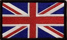 UNITED KINGDOM UK  Flag Iron-On Patch Tactical Morale Emblem Black Border
