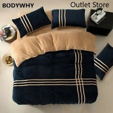 High Quality  Bedding Set Flannel Coral Fleece Cotton Bed Linen Duvet Cover Sets