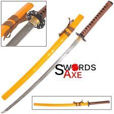 Engraved Shimo Hana 霜花 1060 Carbon Steel Functional Katana Engraved Sword Japan