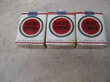 Lucky Strikes Cigarettes Vintage 3 Packs