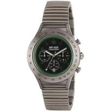 Orologio Uomo HIP HOP ALUMINIUM HWU0734 Chrono Bracciale Alluminio Verde 42mm