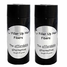 Grey Hair Building Fibers 2-25 g Bottles Filler Up Conceal Thinning Hair