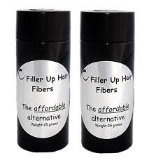 Grey Hair Building Fibers 2-25 g Bottles Filler Up Conceal Thinning Hair