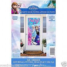 Disney Frozen Door Poster Banner Sign 1pc Party Decoration Supplies
