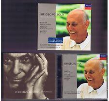 SOLTI CD THE LAST RECORDING BARTO/ WEINER/ KODALY+ BOOKLET SOUVENIR