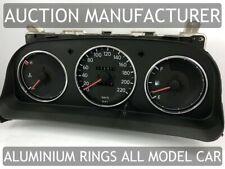 Toyota Corolla E10 1992-1997 Chrome Gauge Trim Dial Rings Polished Alloy New x3