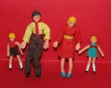 Vintage Dolls House Doll Family Mum Dad Boy & Girl