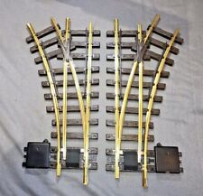 LGB left and right manual turnouts, 1210/1215 & 1200/1205 G Scale