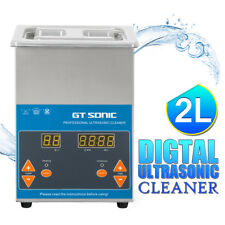 Gt Sonic 2l Digital Display Ultrasonic Cleaner for Cleaning Jewellery Glasses FR