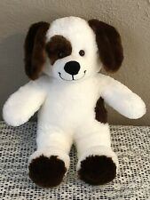 Build A Bear White & Brown Classic Puppy Dog Floppy Ears 16� Soft Plush Nwot
