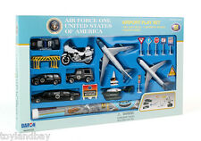Air Force One SET RT5732 Trump Airplane 22 pc Secret Service SUV Limo Copter Set