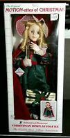 """RARE Telco Animated VICTORIAN WOMAN MOTIONETTE Blonde Curls Long Cape 25"""" tall"""
