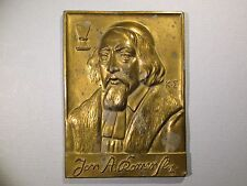 Plaque JAN AMOS KOMENSKY Moravian Church Bishop Comenius Czechoslovakia Bohemia
