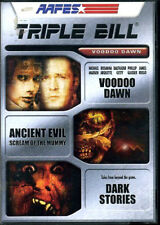 TRIPLE BILL Voodoo Dawn / Ancient Evil / Dark Stories / 3 Scary Movies MOVIE SET
