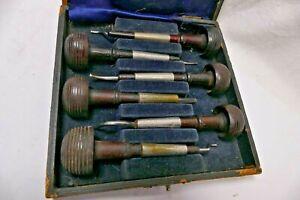 Set of 6 - Ezra F. Bowman & Co. Lancaster Gravers in original case