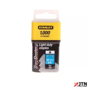 Stanley TRA206T Type 53 Light Duty Staples 10mm Pack of 1000