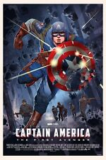 Captain America Poster Art Print by Mondo Artist Stan and Vince Reg Version