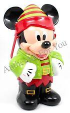 2015 Disney Christmas ELF MICKEY MOUSE Holiday Souvenir Popcorn Bucket *AS IS*
