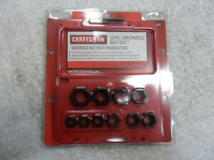 "Craftsman 3/8"" Drive Low Profile Damaged Bolt Nut Remover Set USA - Part # 52166"